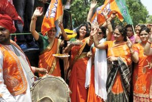 bjp-party-worker-is-celebrating